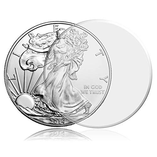 Guardhouse 25 40mm Direct Fit Coin Capsules for American Silver Eagle Liberty Coin, 1 oz Australia Perth Mint Silver 1…