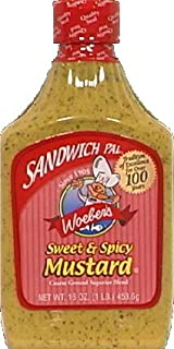 Woeber's Sandwich Pal Sweet and Spicy Mustard 16oz (Pack of 3)
