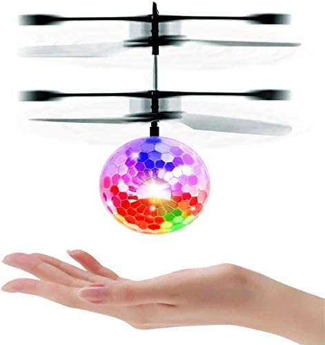 UTTORA Fliegender Ball, Hekopter Flugzeug Drohne Spielzeug ,Infrarot-Induktions, Spielzeug , Flugzeuge Drohne mit bunt leuchtendem LED-Licht, Indoor und Outdoor-Spiele Geschenke