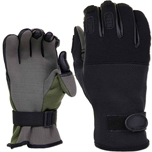 Schieß-Handschuhe Tactical Neopren grün XS