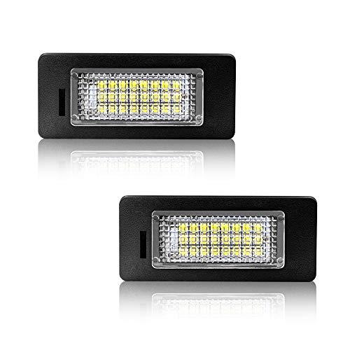 Safego LED Kennzeichenleuchte für E39, 12V 6000K Xenon Weiß, Nummernschildbeleuchtung, E46 E61 E60 E90 E91 E92 E93 F30 F31, 2 Stück, 1 Jahr Garantie