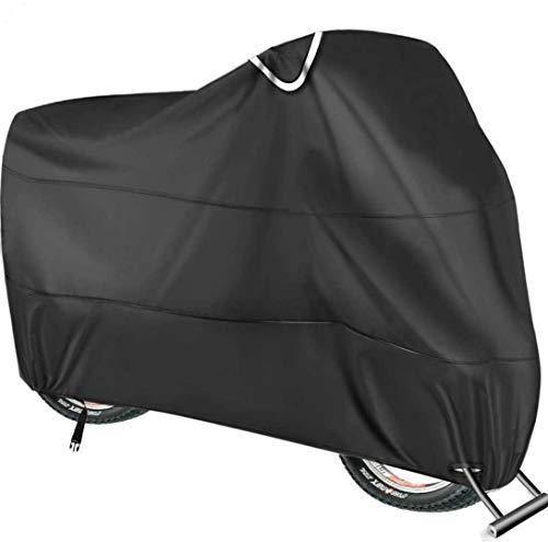 Copribici Impermeabile per 2 Bicicletta - 210T Telo Copri Bicicletta Impermeabile Antipolveri Anti-UV per Esterni - 200 x 110 x 80CM con Sacca per Il Trasporto (Nero)