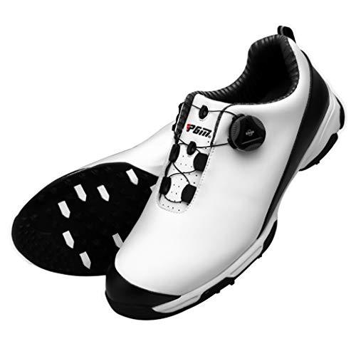 Chaussures de Golf Imperméables pour Hommes, Chaussures de Golf Respirables Anti-dérapage avec Système de Dentelle BOA