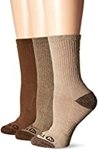 Merrell Women's 3 Pack Cushioned Performance Hiker Socks , Assorted Olive (Crew), Shoe Size: 4-9.5