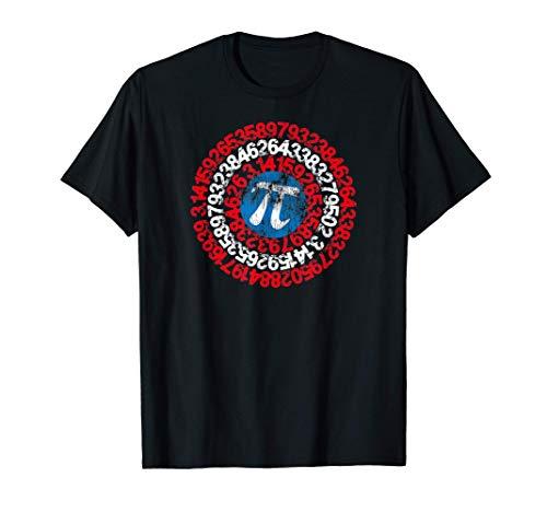 Pi Day Math Captain Pi Superhéroe Matemáticas Nerd Geek Camiseta
