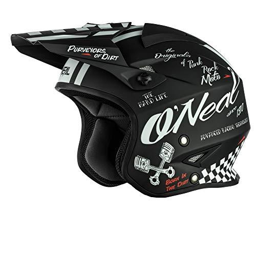 O\'NEAL | Motorrad-Helm | Enduro Street Adventure | Leichte Fiberglas-Außenschale, herausnehmbares & waschbares Innenfutter, Magnetverschluss | Slat Helmet Torment | Erwachsene | Schwarz | Größe M