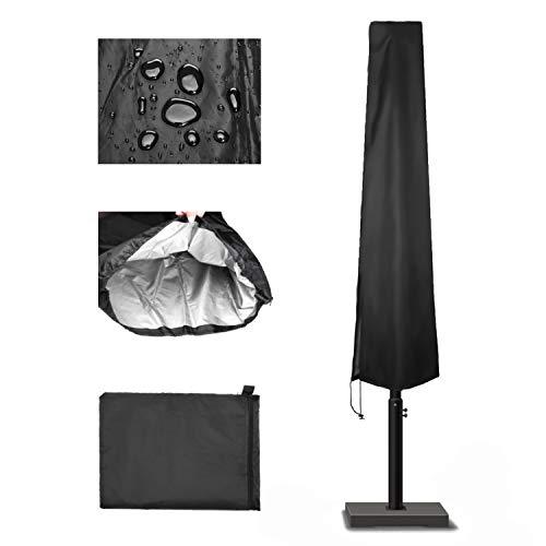 Wencaimd Accessoires Sportifs Housse de Protection pour Parasol Déporté Couverture pour Parasol de Jardin à Mât Excentré Imperméable Anti-Poussière/UV/Intempéries pour Hommes Femmes