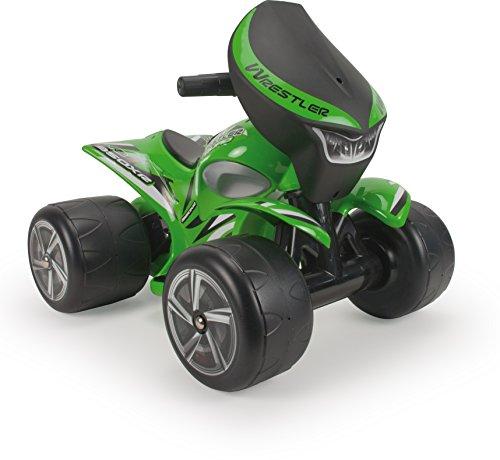 INJUSA - Quad Wrestler Elettrico 6V Colore Verde con Decorazione Permanente e Impermeabile e Acceleratore a Pedale