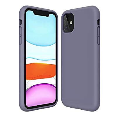 Kocuos iPhone 11 Case Anti-Scratch & Fingerprint & Microfiber Liner Shock Absorption Gel Rubber Full Body Protection Liquid Silicone Case for iPhone 11 6.1 inch (Grey)