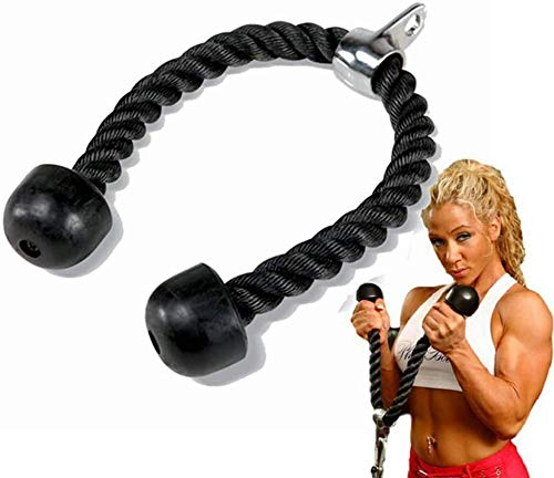 JY&WIN Tricep and Bicep Rope Push Pull Pull Cord Press Multi Gym...
