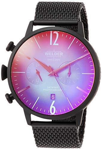 Welder Breezy Herren-Armbanduhr 45mm Armband Edelstahl + Gehäuse Quarz WWRC401