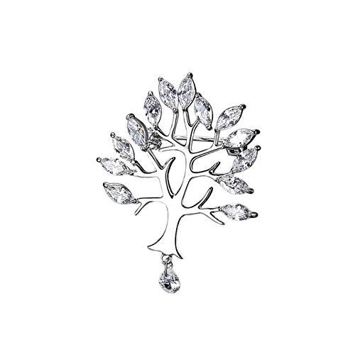 TAO Broches Broche de Niña Hoja Retro Mujer Accesorios Temperamento Sencillo Pin Cardigan Ramillete