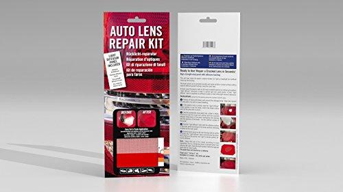 BV Corporation 132208 Kit DIY Réparation d'Optique de Voiture Feux arrière – Pochette 1 Panneau LISSE ROUGE + 1 TEXTURÉ pour la Diffusion de la Lumière