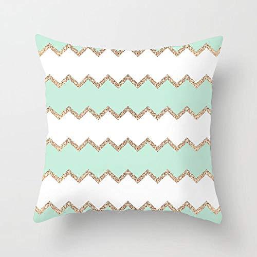 YXYLQ 2020 New Mint Green Series Cushion Cover 45Cm Square Throw Pillows Cases Modern Simple Geometric Pillows Cover Home Decor-45X45Cm_Drd141-1