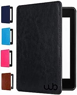 Capa Novo Kindle Paperwhite 10ª Geração Wb® - Auto Hibernação Fecho Magnético Couro Premium Preta