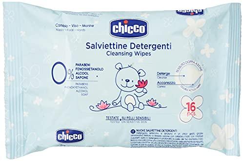 Chicco Salviettine Detergenti, 16 Pezzi - 10 ml