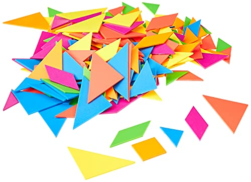Learning Resources LER3554 Brights! Tangrams Class Pack,Multi-color