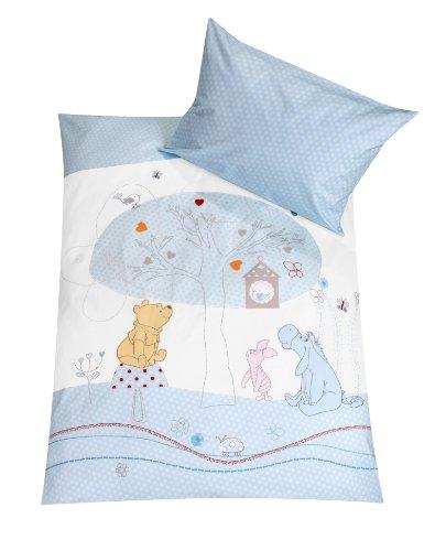 Julius Zöllner Parure de lit Winnie l'Ourson avec housse 100 x 135 cm et taie 40 x 60 cm