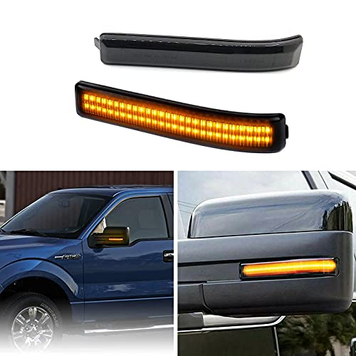 Jxwocwo Smoked Lens Sequential LED Side Mirror Reflector Turn Signal Lights...