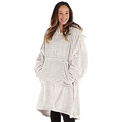 THE COMFY   Oversized Lite Microfiber Wearable Blanket, One Size Fits All, Shark Tank