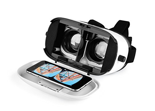Intempo EE1553STK Engage VR 3D Virtual Reality Glasses Headset for  Movies, Games, Apps - White