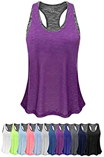 Women Tank Top with Built in Bra, Lightweight Yoga Camisole for Workout Gym Fitness