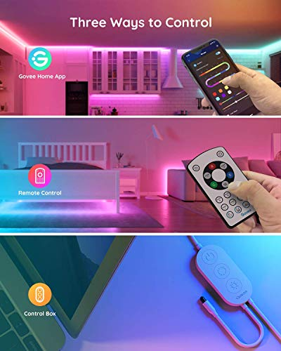 Govee Rgbic Led Strip Lights, App and Remote Control for Bedroom, Living Room, Kitchen, and Party 5