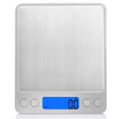 iitrust Básculas de Cocina, (3kg - 0.1g) Balanzas de Comida pequeñas, Balanzas...