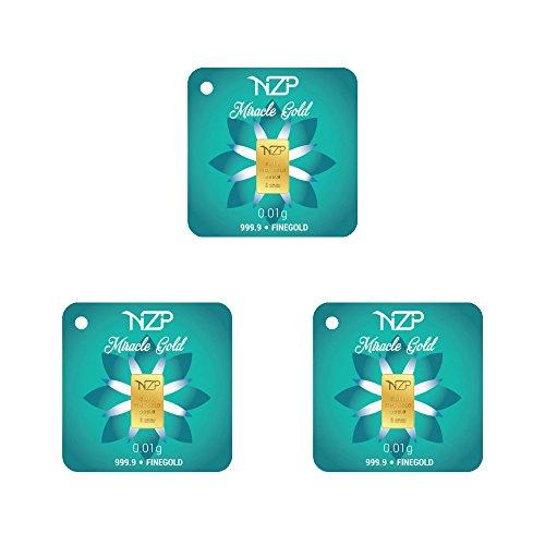 Miracle Gold 3 Stück Nzp Goldbarren 0,01 Gramm, Goldbarren 0,01g, Feingehalt 999,9