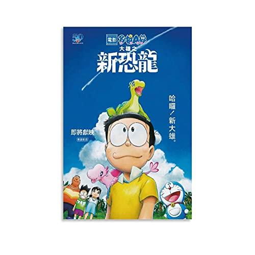 ERQN Doraemon Nobita - Póster de lienzo y pared con impresión moderna para dormitorio familiar (60 x 90 cm)