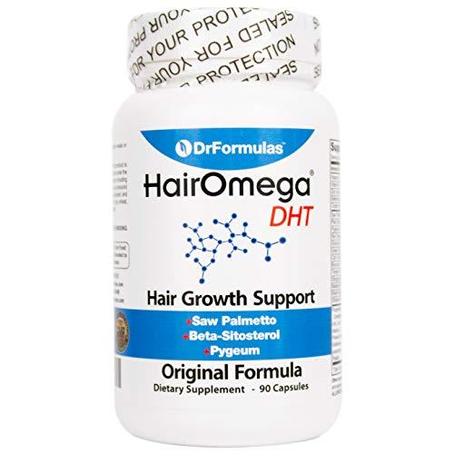 DrFormulas Original Hair Vitamins without Biotin   HairOmega DHT Blocker   Hair Growth Supplement Pills, 45 Day Supply