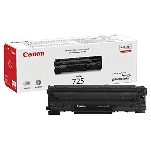 Canon cartucho 725 de tóner original negro para impresoras láser i-SENSYS LBP6000, LBP6000B, LBP6020, LBP6020B, LBP6030,LBP6030B, LBP6030w,i-SENSYS MF3010