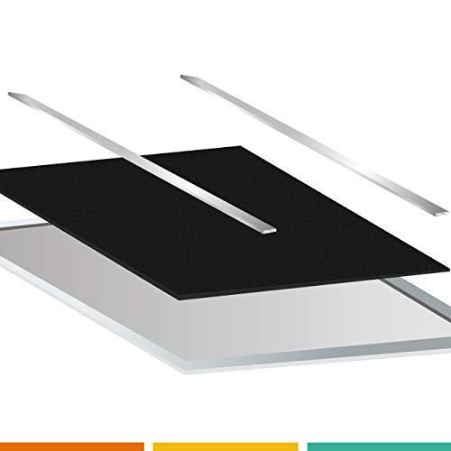 Lot de deux tiges en métal pour bloquer le filtre en mousse à découper sur le filtre métallique (Tiges 210 mm.)