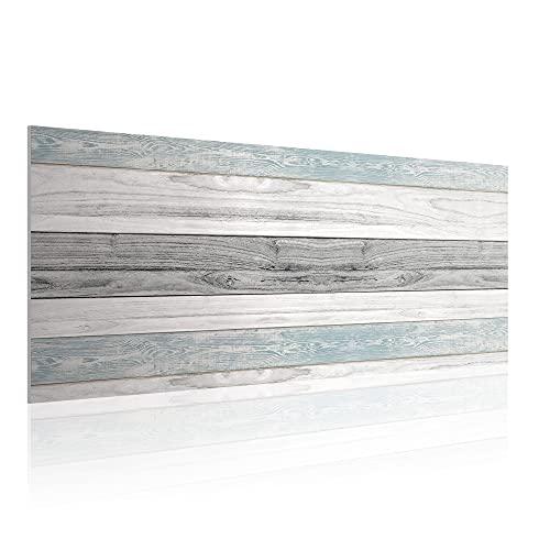 Cabecero para Cama de 135 cm, Imitación Madera, PVC Estampado, 145 x 60 x 0.5 cm, CAB-001