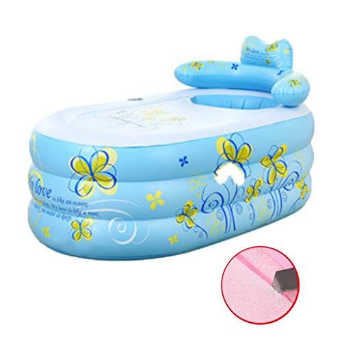 Brausen & Duschen Aufblasbare Badewanne Klappbadewanne For Den Hausgebrauch Kinderbadewanne Aus Kunststoff Umweltfreundlicher Aufblasbarer Badeeimer (Color : Blue, Size : 160 * 90 * 75cm)