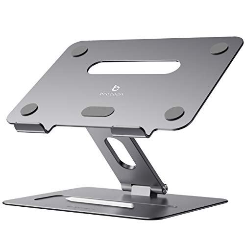 Laptop Stand, brocoon Adjustable Laptop Computer Stand for Desk, Ergonomic Aluminum Laptop Notebook Holder with Heat-Vent, Laptop Riser Compatible for MacBook Air Pro, HP & More 10-17' Laptops