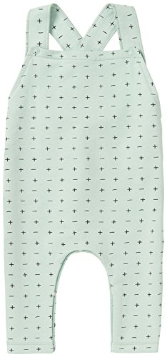 Noppies Unisex Baby U Dungaree Sweat Greenburgh Latzhose, Grün (Grey Mint C175), 68