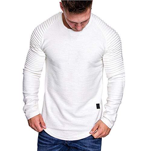 serliy😛Herren Pullover Rundhals-Ausschnitt | Schwarzer Männer Longsleeve | dünner Pulli Sweatshirt Langarmshirt Crew Neck | Jungen Hoodie T-Shirt Langarm Oversize