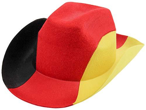 Trendmaus Deutschland Fanartikel Fan-Artikel Fußball EM WM Hut Brille Perücke Fahne, Fanartikel wählen:Cowboyhut