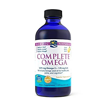 Nordic Naturals Complete Omega Lemon Flavor - 1270 mg Omega-3-8 oz - EPA & DHA with Added GLA - Healthy Skin & Joints Cognition Positive Mood - Non-GMO - 48 Servings