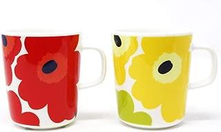 マリメッコ UNIKKO(ウニッコ)マグカップ/赤、黄色 セット