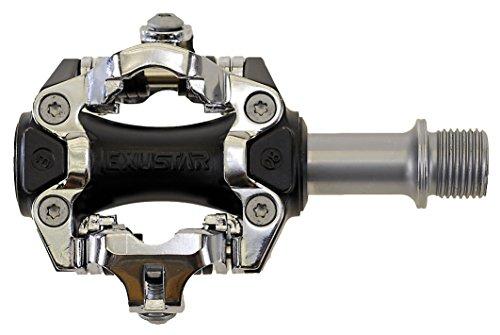 Exustar - Pedales automáticos para bicicleta de montaña plata plata Talla:talla única