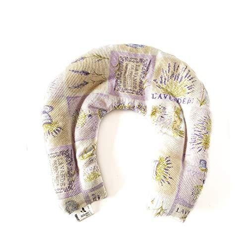 Decolores | Saco Térmico para el cuello. Almohada Cervical de frío y calor. Cojín Térmico Semillas con Estampado de Lavanda con diferentes aromas. Para calentar en microondas.