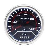 CENPEN 2' (52mm) Lente Humo de Aceite Indicador de presión 0-100 PSI Viendo Medidor del tacómetro/del Coche/Racing Metro YC101230 for el Coche del Carro del Barco