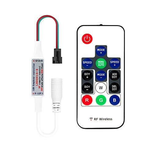 BTF-LIGHTING 14 Schlüssel WS2811 und WS2812B Wireless RF LED RGB Controller 300 verschiedene Arten von digitalen Farbe LED-Lichtmodul Streifen