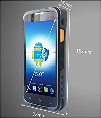 Rugged Extreme Handheld Mobile Computers, Data Terminal With Motorola Symbol 1D Laser Barcode Scanner/GPS/Camera, Android 5.1 OS, Qualcomm Quad Core CPU, WiFi 802.11 b/g/n