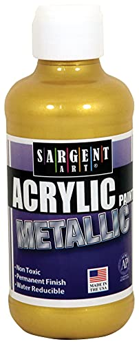 Sargent Art 22-1181 8-Ounce Liquid Metal Acrylic Paint, Gold