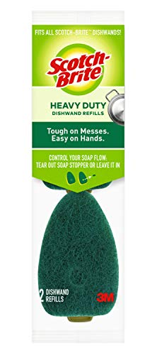 Scotch-Brite Heavy Duty Dishwand Refills, Keep Your Hands Out of Dirty Water, 2 Refills