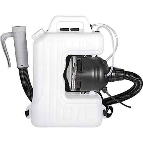 VEVOR Nebulizador Pulverizador Eléctrico 10L Pulverizador Desinfectante Atomizador 2200W Máquina de Nebulización de Mochila 600 ml/min Pulverizador Eléctrico de Niebla Fría ULV para Jardín Hospital