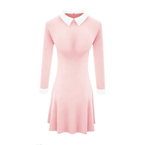 fe59ea50ab6 TULIPTREND Women s Celebrity Peter Pan Collar Wear Work Fitted Dresses